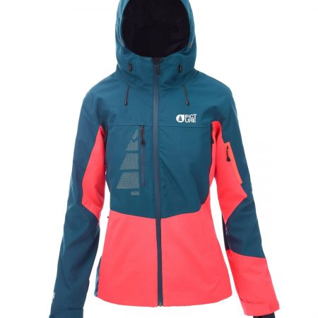 PICTURE – SEEN JACKET PETROL BLAUW NEON CORAL